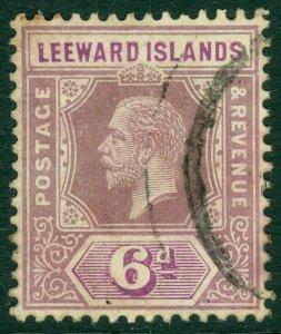 EDW1949SELL : LEEWARD ISLANDS 1932 Scott #75a Die 1. Very Fine, Used Catalog $95