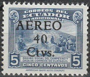 Stamp Ecuador SC C135 1945 Airmail Peons South America  MNH