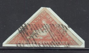 Cape of Good Hope #1a USED on Paper C$400.00  -- Choice -- TOP Quality