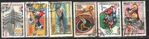 Czechoslovakia. 1964. 1488-93. Tokyo Summer Olympics. USED.