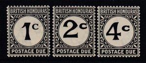 British Honduras, Sc J1-J3 (SG D1-D3), MNH