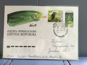 Lithuania 1991 stamps cover R29360