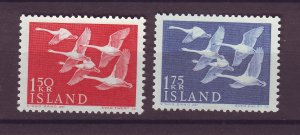 J25467 JLstamps 1956 iceland set mnh #298-9 swans