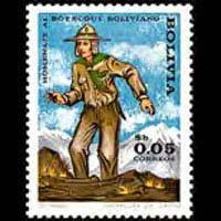BOLIVIA 1970 - Scott# 526 Boy Scout 5c NH