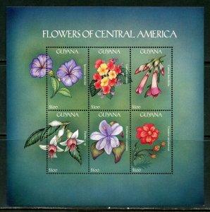 GUYANA  FLOWERS OF CENTRAL AMERICA   SHEET II  MINT NH