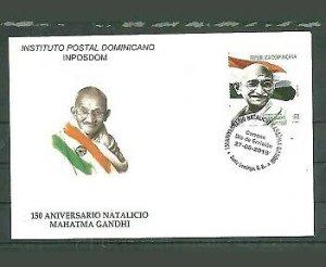 Dominican Republic 2019 150th Anniversary of Mahatma Gandhi´s birthdate 1v FDC´s