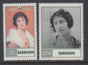 Barbados 792-793 Queen Mother MNH VF