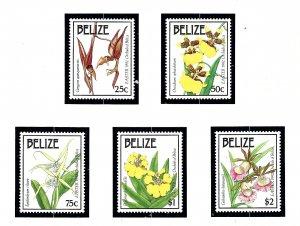 Belize 985-90 MNH 1992 Easter (Orchids)