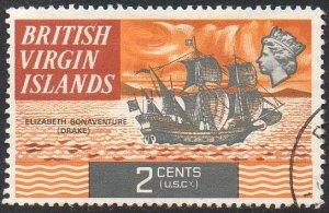 British Virgin Islands 1970 2c Elizabeth Bonaventure (Drake's flagship) used