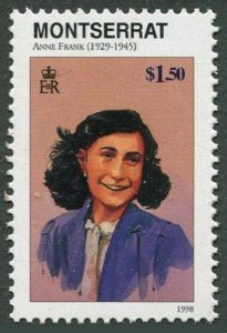 Montserrat 944,MNH. Famous People of the 20th Century.1998. Anne Frank.