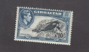 GIBRALTAR # 117 MNH KGV1 10sh BLUE BLACK CATALAN BAY CAT VALUE $27.50