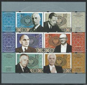 Poland Scott 3906 Miniature Sheet of 6! MNH!