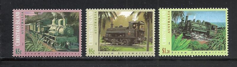 Christmas Island #360-2 comp mnh Scott cv $6.85 Trains