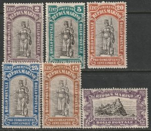 San Marino Sc B3,B4,B6-B8,B10 partial set MH