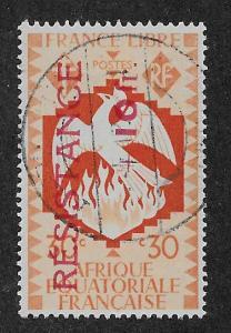 FRENCH EQUATORIAL AFRICA SC# B27  FVF/U  1944