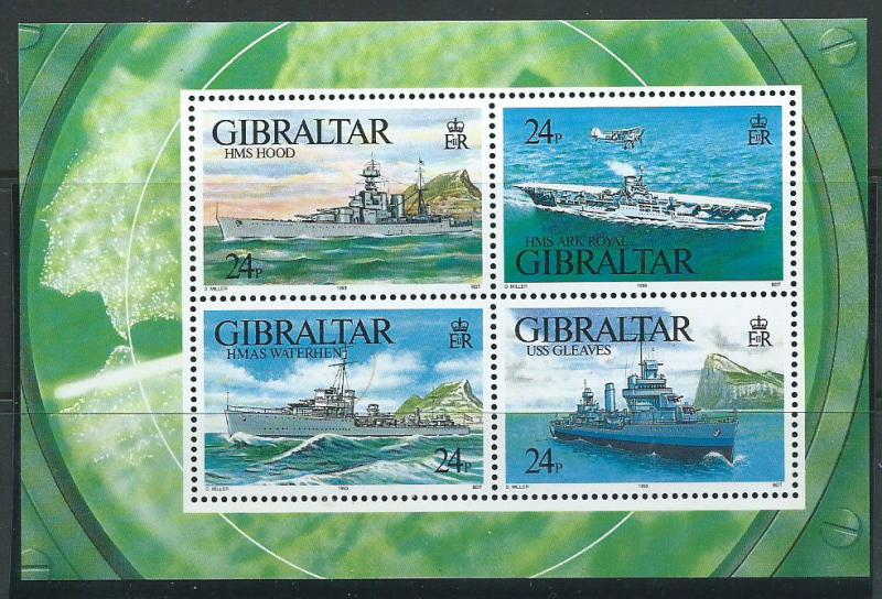 Gibraltar SG MS 694 Mint Unhinged - MUH