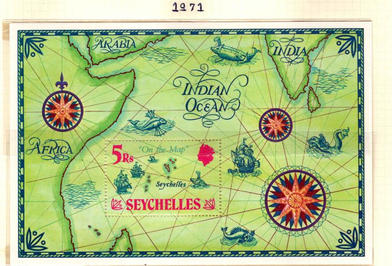 Seychelles Scott 284  MNH** Map souvenir sheet