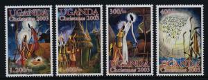 Uganda 1833-7 MNH Christmas, Holy Family