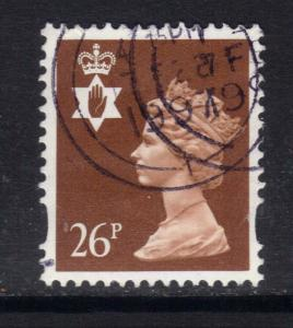 Northern Ireland GB 1996 QE2 26p Red Brown Machin used SG NI 73 ( D907 )