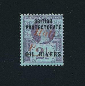 NIGER COMPANY -NIGERIA 1893, ½d on 2½d T7, VF MLH SG#21 CAT£375 (SEE BELOW)