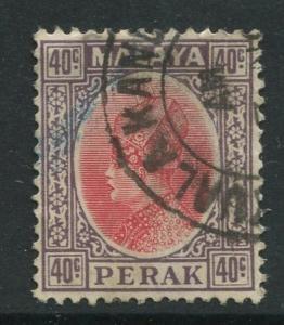 Malaya-Perak -Scott 79 - Sultan Iskandar - 1935- VFU - Single 40c Stamp