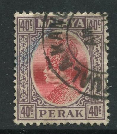 Malaya-Perak -Scott 79 - Sultan Iskandar - 1935- VFU - Single 40c Stamp