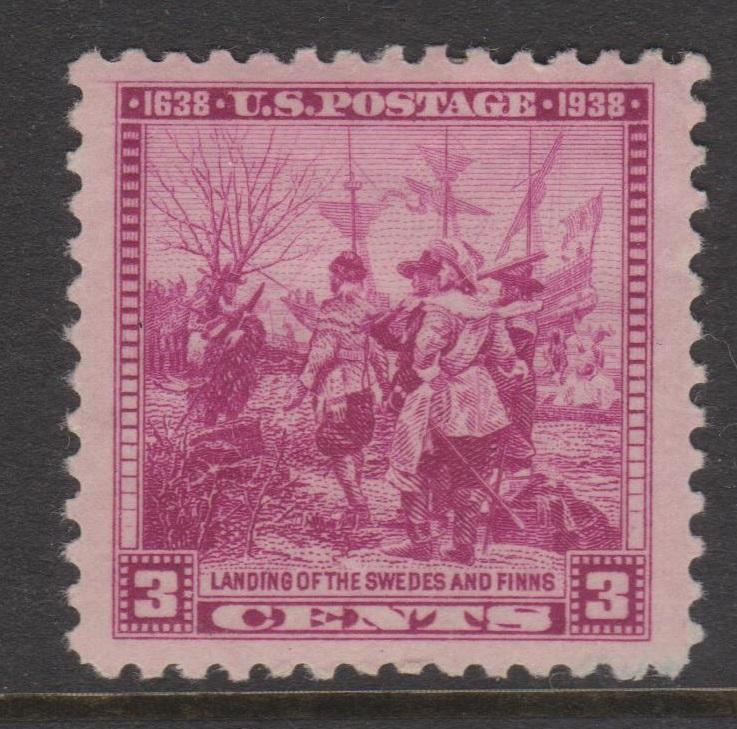 1938 Swedes and Finns Landing Sc#836 VF MH