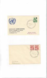 UNESCO Tropical Congress, Goroka, Papua and New Guinea 1960 2 Covers