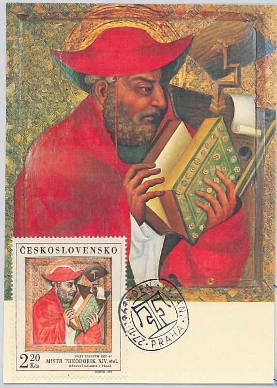 59086  -  CZECHOSLOVAKIA - POSTAL HISTORY: MAXIMUM CARD 1969  -  ART Religion