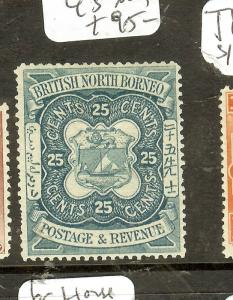 NORTH BORNEO (P0208B) 25C  LION CREST SG45  MOG