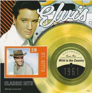 St Kitts - 2013 Elvis Presley Wild in the Country Stamp S/S STK1309