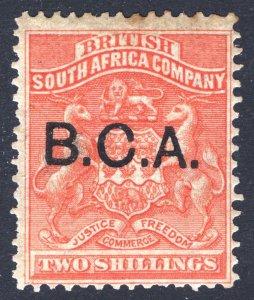 Nyasaland BCA 1891 2s Vermilion Arms SG 8 Scott 8 LMM/MLH Cat £42($52)