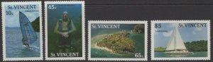 ST.VINCENT SG1133/6 1988 TOURISM MNH