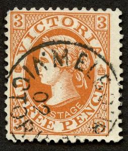 Australian States - Victoria - Sc #114, used.   2019 SCV $6.50