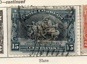 Chile 1910 Early Issue Fine Used 15c. NW-11434