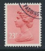 GB Machin 23p  SG X965  Scott MH122 Used with FDC cancel  please read details