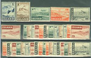 ICELAND SCOTT#621/26 LOT OF SIX COMPLETE SETS MINT NH