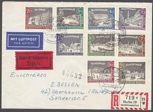 GERMANY 1963 Registered Express cover - nice franking.......................B327