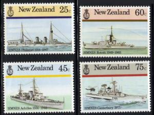 New Zealand #839-42 MH battle ships