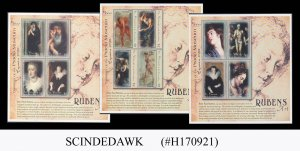 ST. VINCENT GRENADINES - 2000 PAINTINGS BY RUBENS - SET OF 3 MIN/SHT MNH
