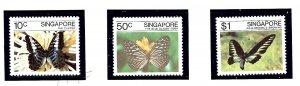 Singapore 387-89 MNH 1982 Butterflies