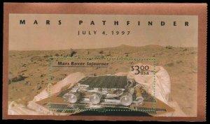 US #3178 SS $3 Mars Pathfinder, 1997, MNH, (PCB-1)