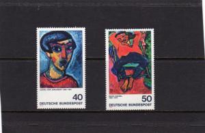 Germany 1974 Impressionists MNH