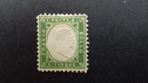 Sardinia - Scott 10c - King Victor Emmanuel II -1855-59 - MLH - Single 5c Stamp