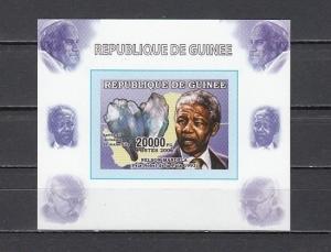 Guinea, Mi cat. 4264 B. Nelson Mandela with Minerals. Pope & Gandhi in design. *