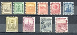 EGYPT - 1914 PICTORIALS complete set from 1 M to 200 M Sc# 50-59 MH