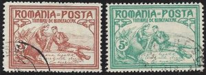 Romania #B9-10 used, the queen as war nurse, issued 1906