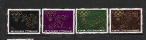 RWANDA 1971 MOG/VFU MUNICH 72 OLYMPIADS 4 VALUES C270