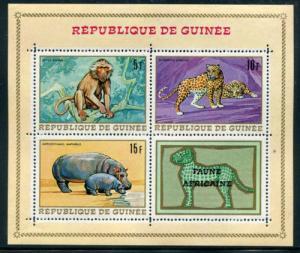 Guinea 514a 517a 518a, MNH, Wild Animals. x2086