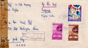 Dominican Republic 3c, 10c, and 10c Centenary of Independence 1945 Correo Aer...